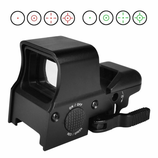 provides a wide field of view, suitable for rapid-firing or shooting of moving target besides normal shooting.